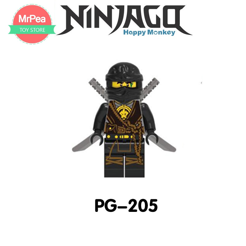 Compatible LegoINGlys NinjagoINGlys Sets NINJA Heroes Kai Jay Cole Zane Nya Lloyd With Weapons Action Toys for children