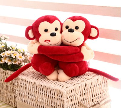 Couple Hug Monkey Plush Toy Sweetheart Monkey Stuffed Animal