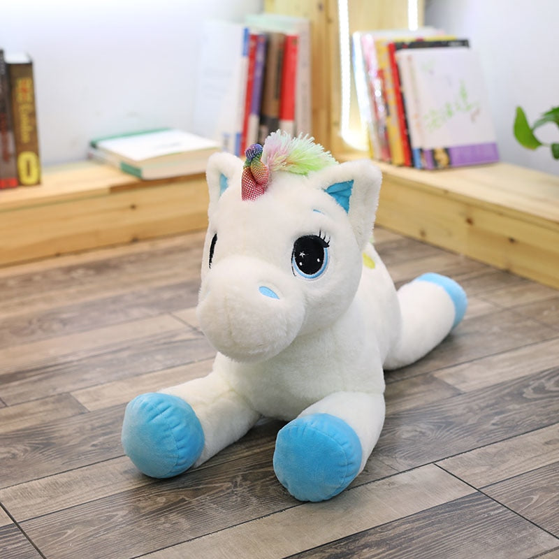 Cute Colorful Lying Unicorn Plush Toy