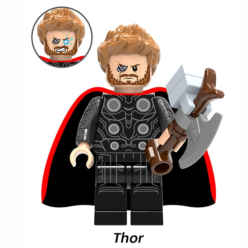 Lego Marvel Super Hero Infinity War Thanos Guardians of Galaxy Spider iron man Avengers THOR Building Blocks Toys Figures