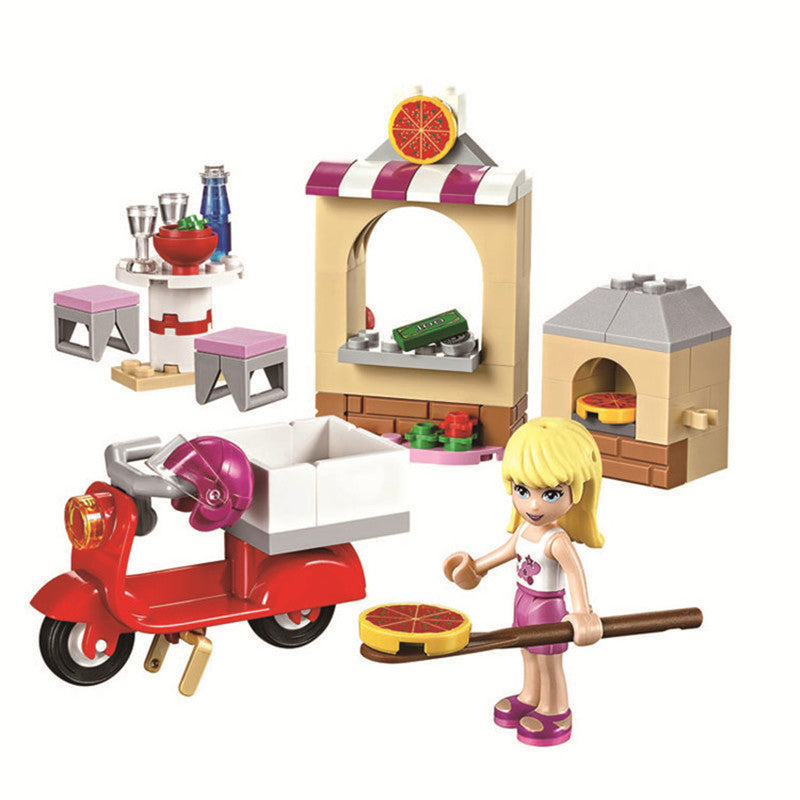 Friends Series Houses Animals Emma/Mia Cat Play Pet House Building Blocks Bricks Girls Princess Toys Legoinglys Friends