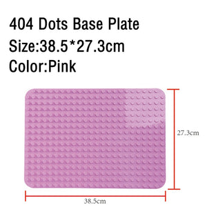 Large Size Baseplate Big Base Plate 404 Dots Exlarge Brick Solid Plate Toys Compatible Legos Duploe Toys For Child Kid