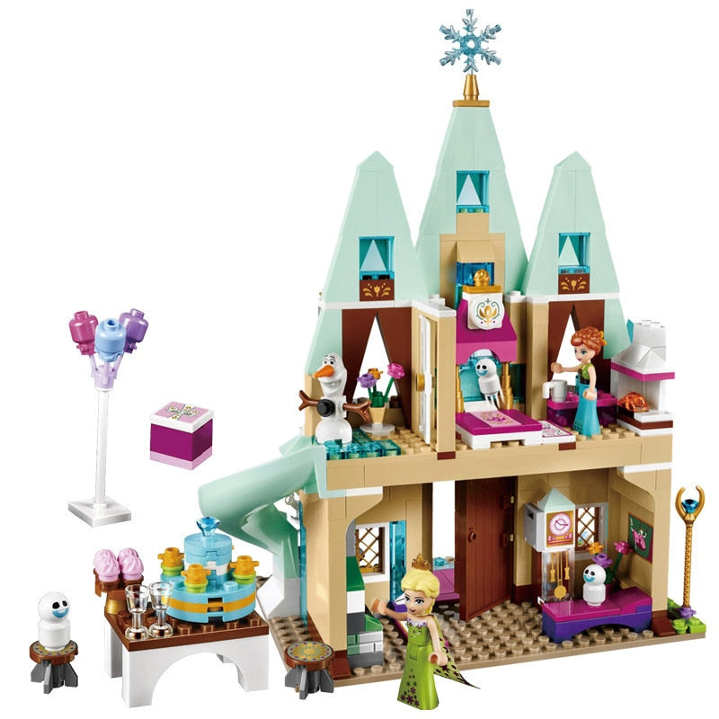316pcs Princess Serie Elsa Magical Ice Castle Set Educational Building Block Bricks Toy for kids Compatible lego Friends