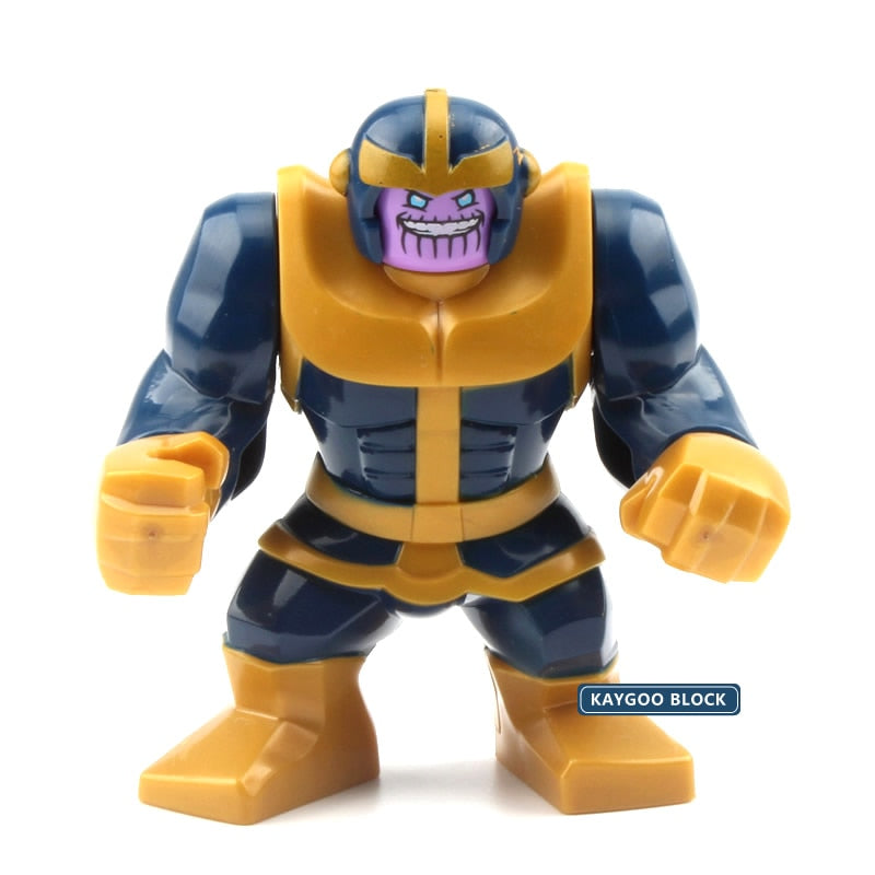 Super Heroes Avengers Infinity War Cull Obsidian Venom Riot Thanos Carnage Model Building Blocks Set toys Big figures