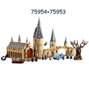 New Harry Potter Series Hogwarts Great Hall Compatibility Legoing Harry Potter 75954 Building Blocks Bricks Toys Gift Christmas