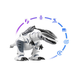 RC Intelligent Dinosaur Model Electric Remote Control Robot Mechanical War Dragon With Music&Light Functions Children Hobby Toys