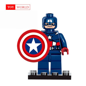 Super Heroes Marvel Figures Captain American The Hulk Spiderman Iron Man LEGOINGLYS Building Blocks Mini Bricks Children Toys 15