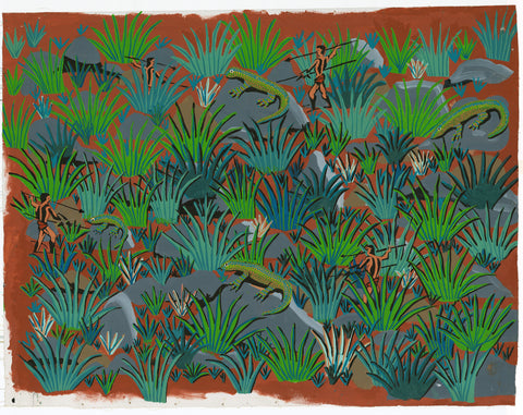 Ngahri Ngamahl 'The Game of the Goanna' | Authentic Indigenous Art Canvas