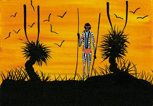 """Grass Tree Sunset #1"" 