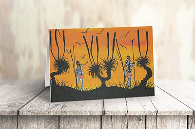 GREETING CARD | Sunset Hunting