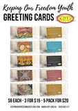 GREETING CARD 5 Pack | With Envelopes