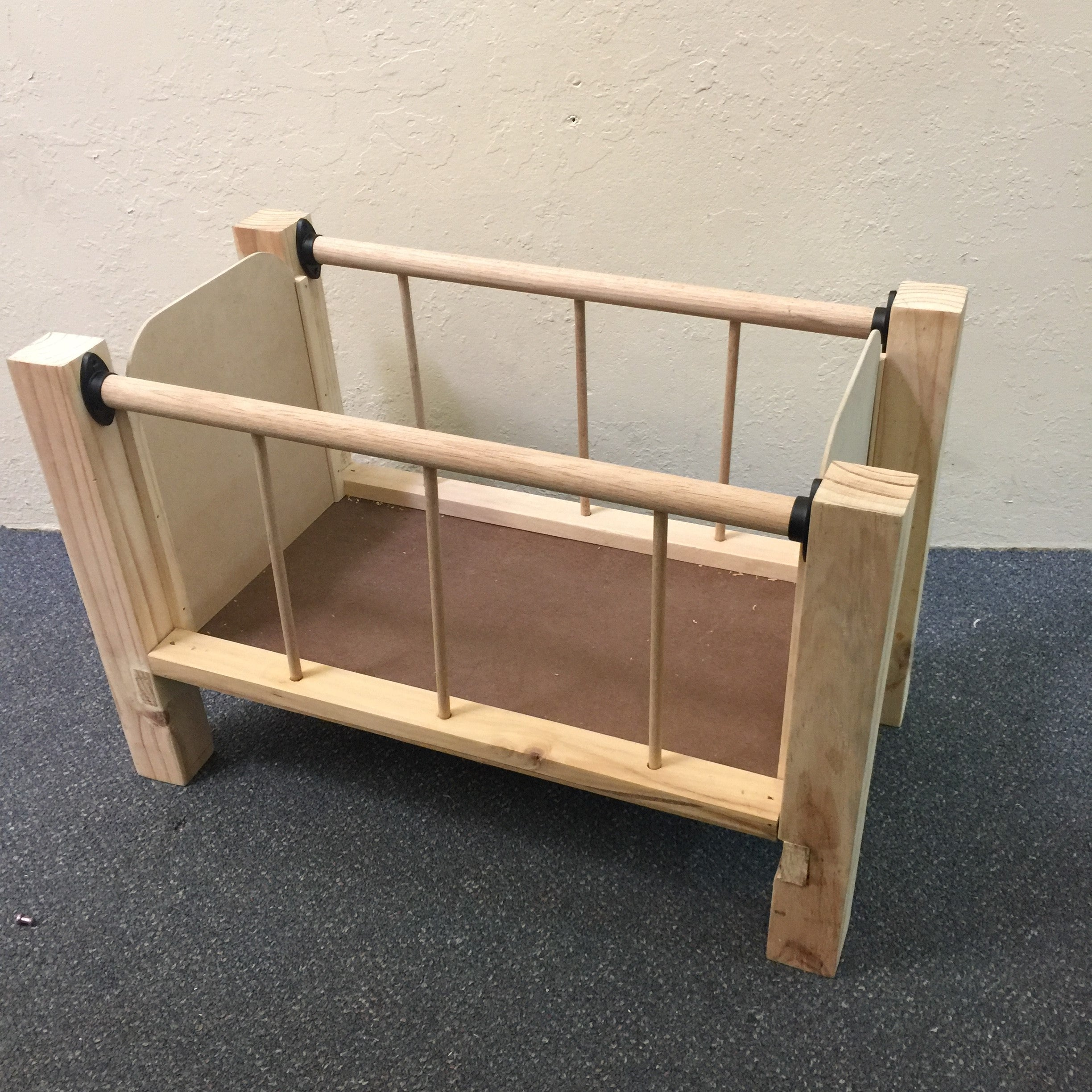 TOY COT | Natural Wood, unpainted, unvarnished
