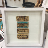 Framed Wooden Collage - 10x10""