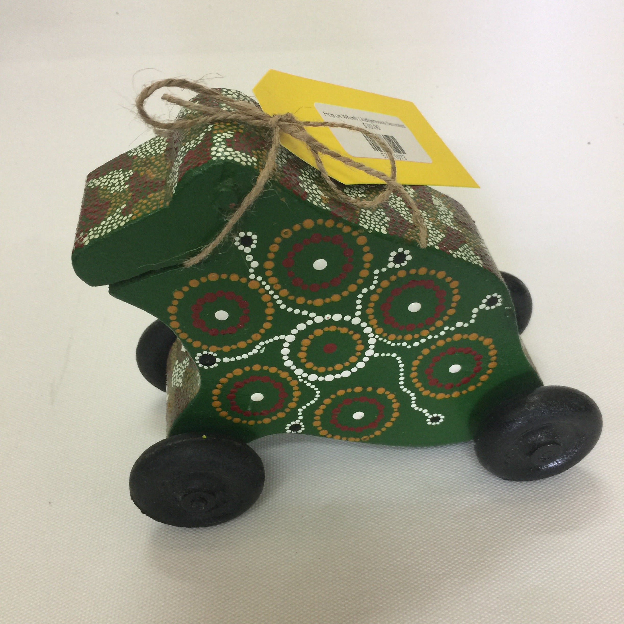 Frog on Wheels | Indigenously Decorated