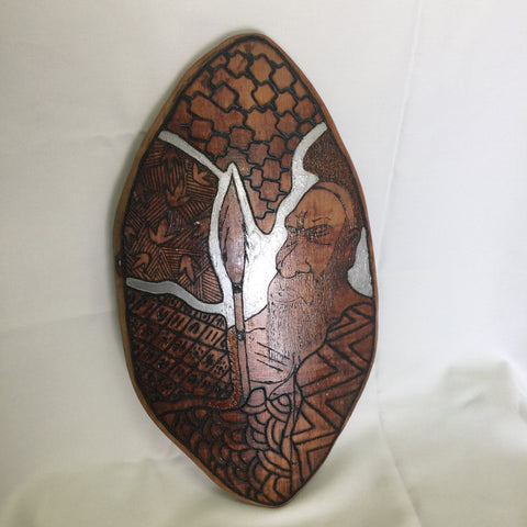 Handcrafted Wooden Shield | Bundjalung Warrior