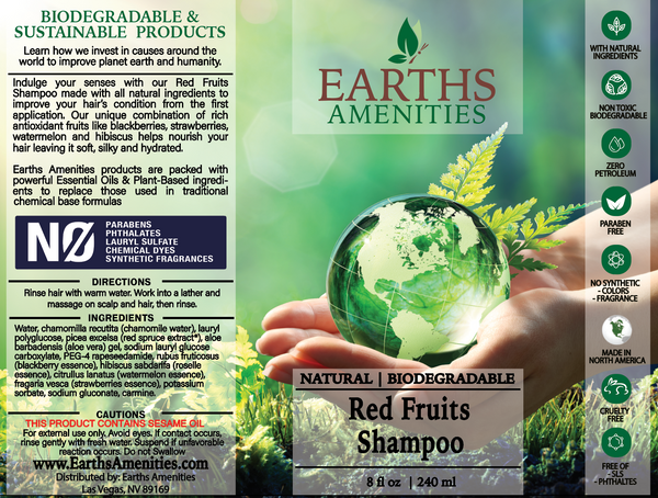 Red Fruits Essential Oil Shampoo 240ml