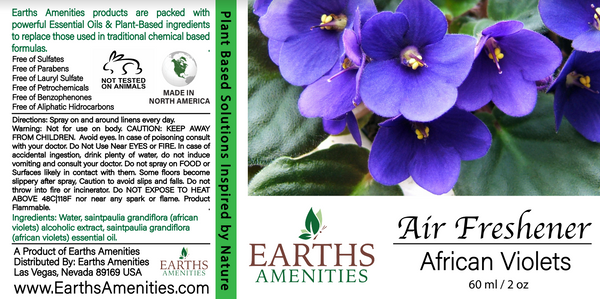 African Violets Essential Oil Air Freshener 60ml