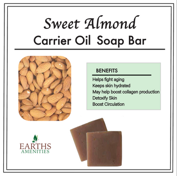 Sweet Almond Carrier Oil Soap Bar [60g] Case of 12