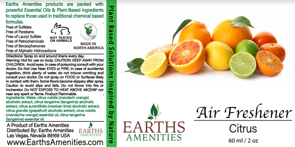 Citrus Essential Oil Air Freshener 60ml