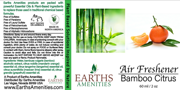 Citrus Bamboo Essential Oil Air Freshener 60ml (Case of 12)