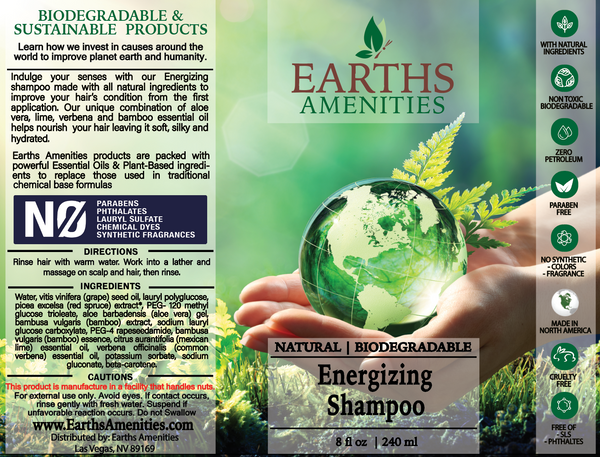 Energizing Essential Oil Shampoo 240ml (Case of 12)