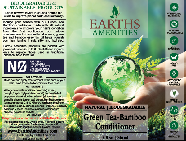 Green Tea-Bamboo Essential Oil Conditioner 240ml (Case of 12)