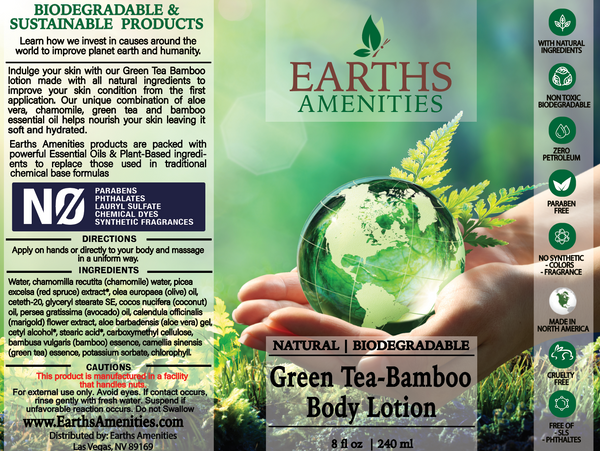 Green Tea-Bamboo Essential Oil Body Lotion 240ml