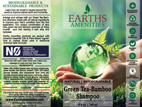 Green Tea-Bamboo Essential Oil Shampoo 240ml (Case of 12)