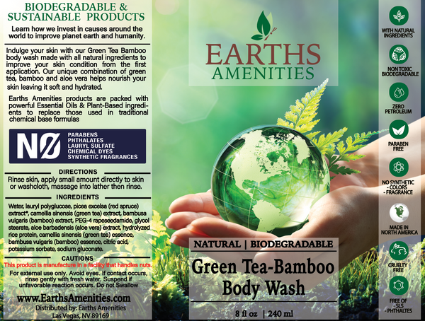 Green Tea-Bamboo Essential Oil Body Wash 240ml (Case of 12)