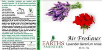 Lavender Geranium Anise Essential Oil Air Freshener 60ml (Case of 12)