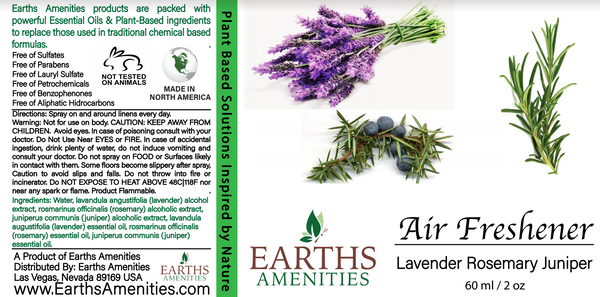 Lavender Rosemary Juniper Essential Oil Air Freshener 60ml (Case of 12)