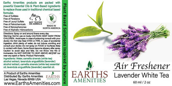 Lavender White Tea Essential Oil Air Freshener 60ml