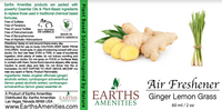 Lemongrass Ginger Essential Oil Air Freshener 60ml (Case of 12)