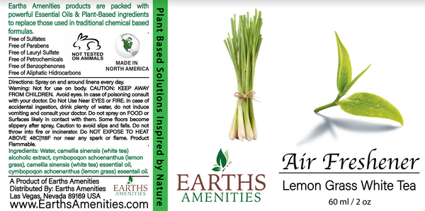 Lemongrass White Tea Essential Oil Air Freshener 60ml