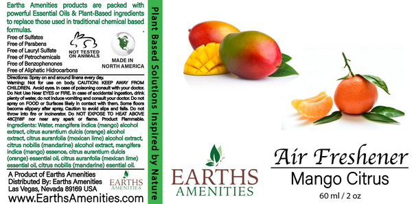 Mango Citrus Essential Oil Air Freshener 60ml (Case of 12)