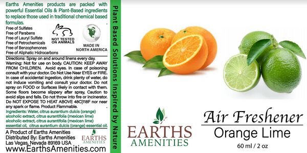 Orange Lime Essential Oil Air Freshener 60ml