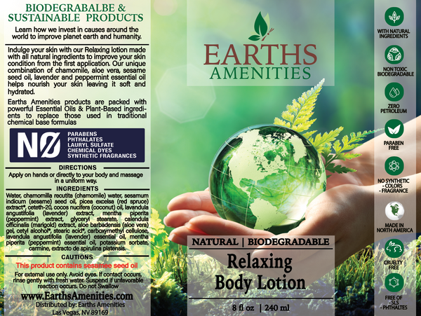 Relaxing Essential Oil Body Lotion 240ml (Case of 12)