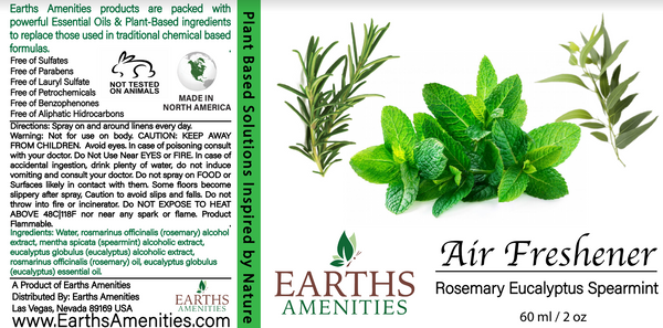Rosemary Eucalyptus Spearmint Essential Oil Air Freshener 60ml