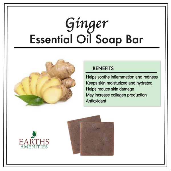 Ginger Essential Oil Soap Bar [Set of Three 60g]
