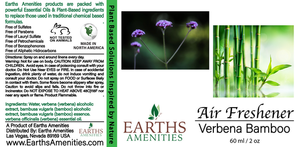 Verbena Bamboo Essential Oil Air Freshener 60ml
