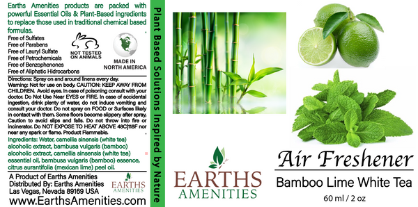 White Tea Bamboo Lime Essential Oil Air Freshener 60ml (Case of 12)