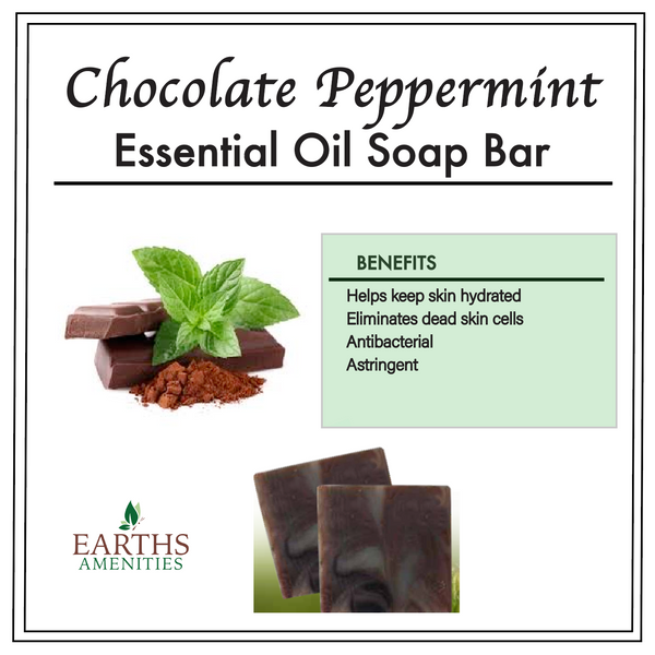 Chocolate Peppermint Essential Oil Soap Bar [60g] Case of 12