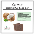 Coconut Essential Oil Soap Bar [Set of Three 60g]