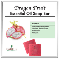 Dragon Fruit Essential Oil Soap Bar [Set of Three 60g]