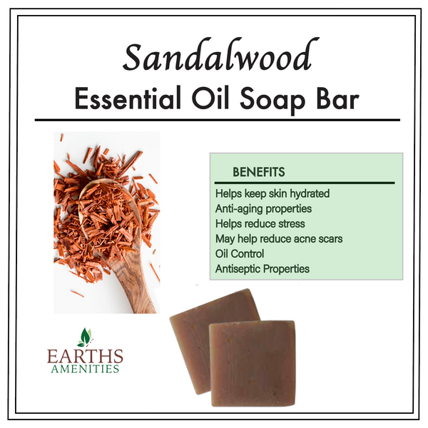 Sandalwood Essential Oil Soap Bar [60g] Case of 12