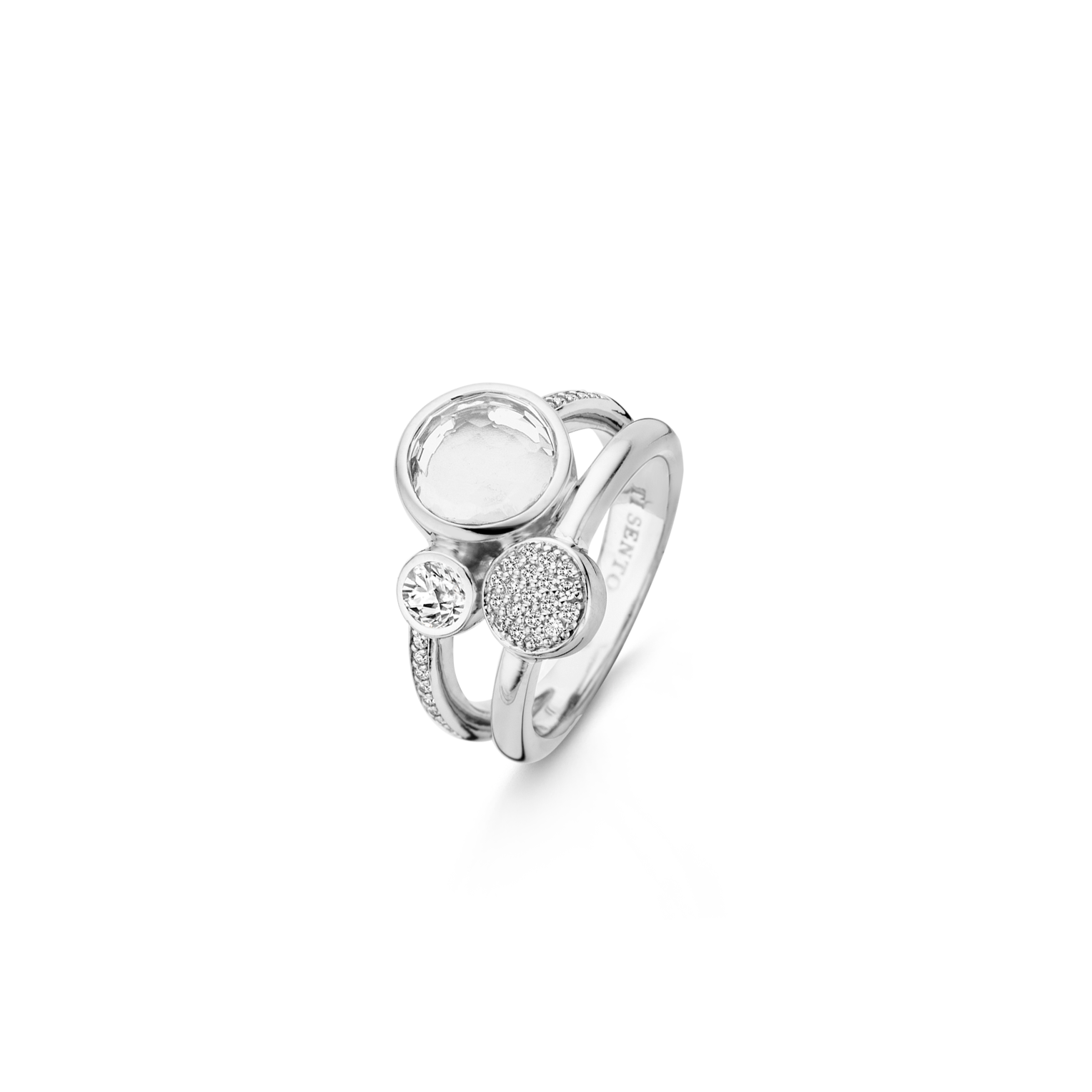 Image of TI SENTO Milano 925 Sterling Zilveren City Chic Ring 12138ZI/52 (Maat: 52)