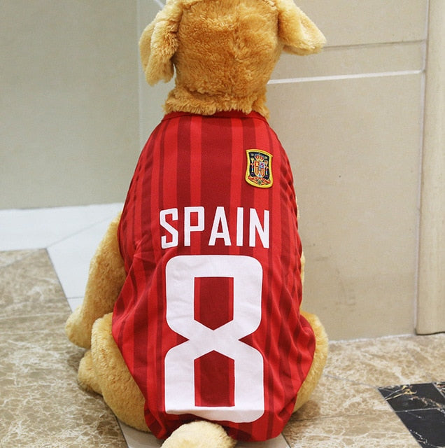 Digital Gear Bags Accessories & Parts Pet Clothes For Big Dog Basketball Football Dog Vest Breathable Golden Mesh Vest Jersey Soccer Football 3xl-6xl