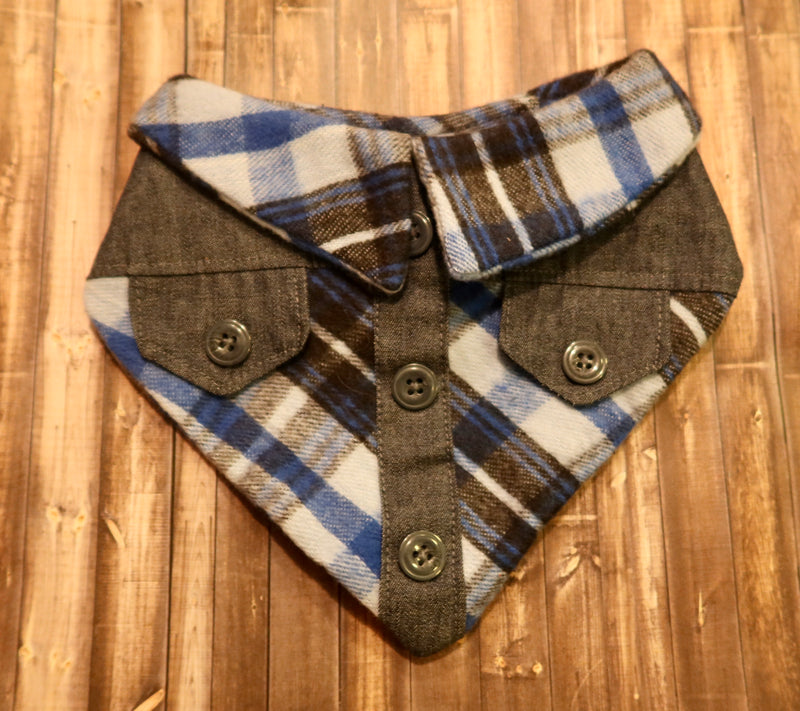 Blue Denim Flannel Bandana