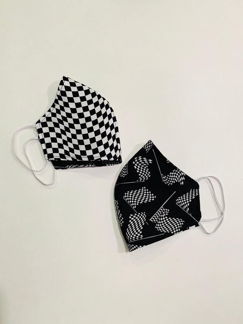 Checkered Fabric Face Mask