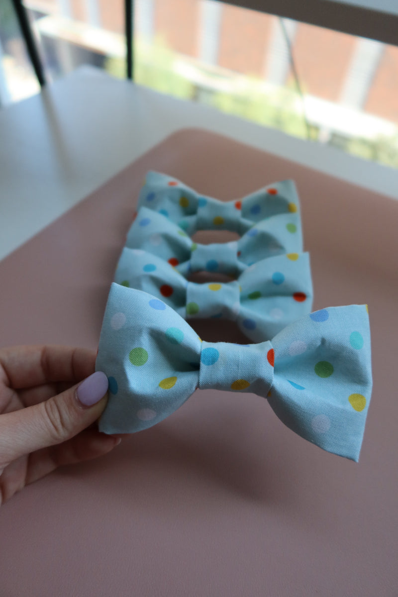 Blue Polka Dots Bow Tie